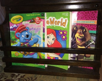 Coloring Book Rack to add to our Kids Activity Table