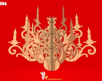 Vector for laser cutting candlestick decoration