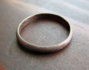 SALE Vintage Sterling Silver Ring Rustic Band