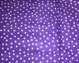 Purple w/White Polka Dot Fabric