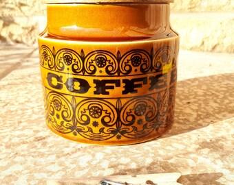 Hornsea C-Scroll Coffee Storage Jar, John Clappison, 1965. New seal.