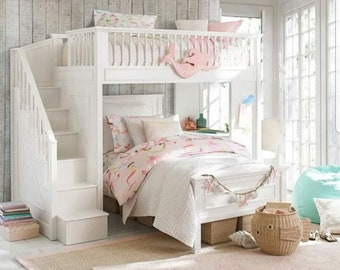 Bed with stairs