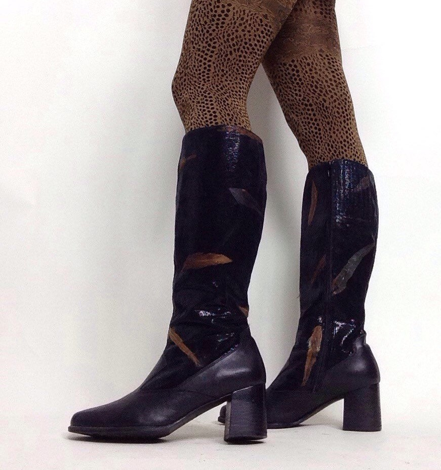 1c276dc0a05 Vintage 90 s  Ross Hommerson  Black Knee High Boos