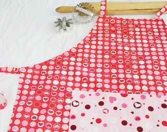 Hearts in Dots Adult Apron