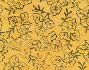 Gold Batik, Yellow Batik, Peach Batik, Timeless Tonga Batiks, Punch Pollen Leaflet - by the Half Yard