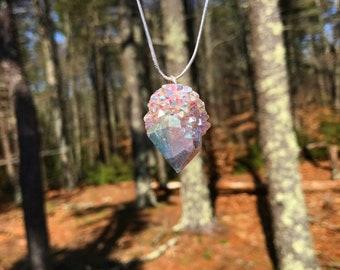 Angel aura spirit quartz necklace