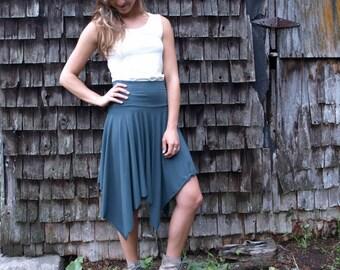 Organic Cotton & Bamboo Asymmetrical Skirt