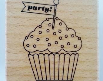 "Block Stamp - ""Cupcake Party"""
