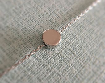 Dainty dot necklace//Rhodium plated//Minimalist//Simple//Dainty//RR002