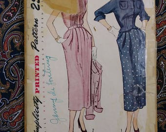 Vintage 1940s Pattern Dress New Look Suit Simplicity 3088 40s Fashion B34
