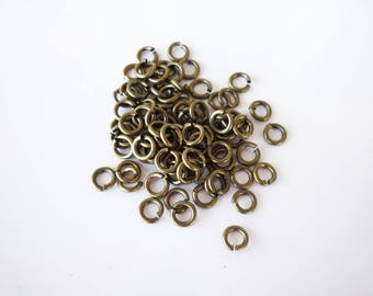 20 jump rings 5mm antique brass