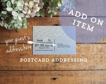 Postcard Addressing - Printed Designs Only