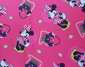 Minnie Mouse Shopping Toss 100% Cotton Fabric