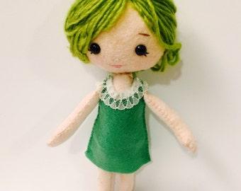 Trendige Mädchen Plushie. Softie. Fühlte mich Doll.