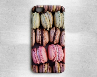 Macarons Phone Case Gift for Foodies - Available for iPhone X, iPhone 8, iPhone 7, iPhone 6S, iPhone 6, iPhone 5s, iPhone 5c, iPhone 4s