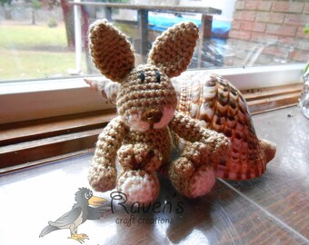 Jack Rabbit Amigurumi -MADE to ORDER- Easter, shower gift, stocking stuffer