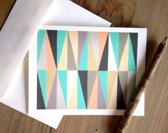 Geometric Cards: Blank Stationery