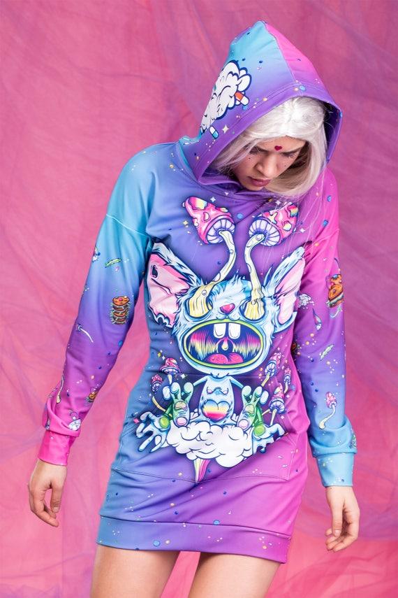 Rave Jersey sudadera con capucha ropa psicodélica Weed ropa
