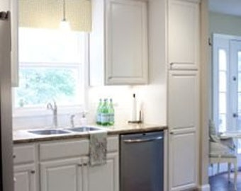 Custom Kitchen Window Cornice, Pelmet, Valence - You Choose Fabric