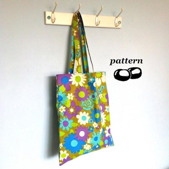 Tote Bag Pattern / Shoulder Bag Pattern / Easy Sewing Pattern ...