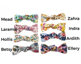 Floral Modern Knotted 4 Bow Set