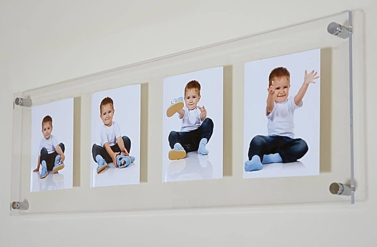 Leather Photo Frames - Locketts-Hungerford 8x6 photo frame multi