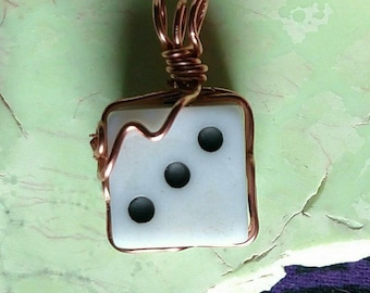 Dice Necklace, Dice Jewelry, Geek Necklace, Gamer Necklace, Nerdy Necklace, Nerd Jewelry, Geeky Jewelry