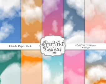 Clouds Digital Paper Pack