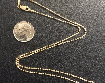 """16"""" Gold-Filled 1.5mm Ball Chain"""