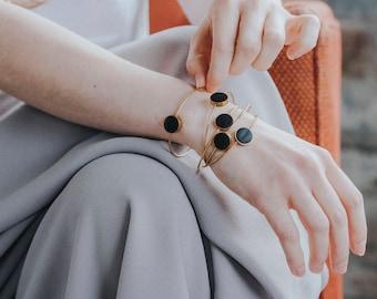 Dainty Bracelet, Minimal Bracelet, Everyday Bracelet, Minimalist bracelet, Black bracelet, Delicate Bracelet, Christmas Gift, Birthday Gift