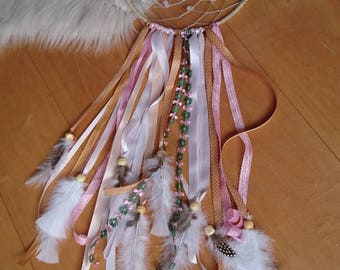 Pink Dream Catcher with gemstones