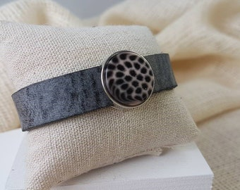 Cuoio Leather bracelet with slider