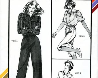Vintage Stretch and Sew 752 Womens' Pants, Capris, Shorts with Elastic Waist UNCUT Sewing Pattern Hips 30 32 36 38 40 42 44 46 XS S M L XL
