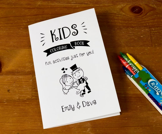 Wedding coloring book for kids / Rehearsal dinner activity