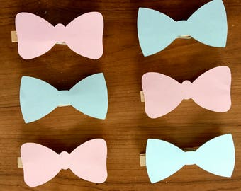 Gender Reveal Bows- Pink or Blue