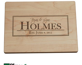 Personalized Cutting Board, Engraved Cutting Board, Cutting Board, Custom Cutting Board, Personalized Gift, Wedding Gift, Gift, Last Name