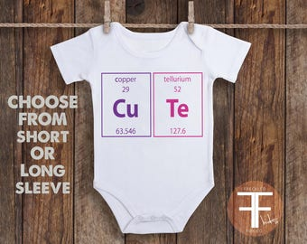 Periodic table baby etsy periodic table onesie nerd onesie baby girl onesie take home outfit for urtaz Images