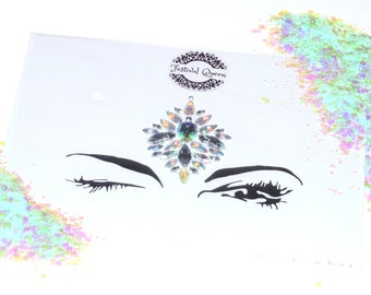 Festival Queen Dainty Centre Piece Face or Body Bling Jewel and Glitter Kit