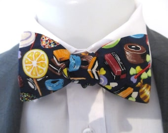 """Bowtie -  made in """"candyman"""" fabric  - choice of fittings"""