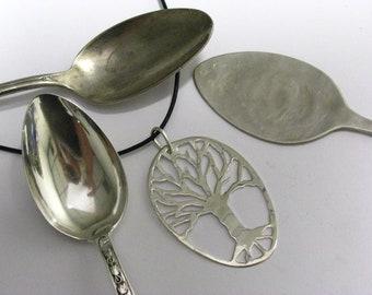 Handmade Sterling Silver Tree of Life Family Tree Pendant