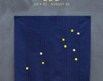 Leo Constellation Block PDF pattern - Quilting Patchwork