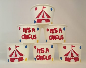 Circus Party Snack cups, Carnival Party Snack Cups, Circus Birthday Party Snack Cups, Carnival Birthday Party Snack cups
