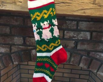 Pig Christmas Stocking