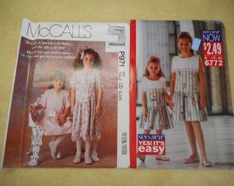 Little Girls Dress Pattern: Sizes 2-6  - uncut patterns, NOS