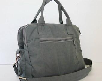 Sale - Grey Water-Resistant bag - Shoulder bag, Messenger bag, Tote, Travel bag, Crossbody, Women, - ELIZA