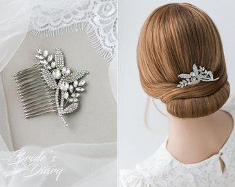 Wedding hair jewelry, rhinestones bridal hair comb, small bridal hair comb, wedding accessories