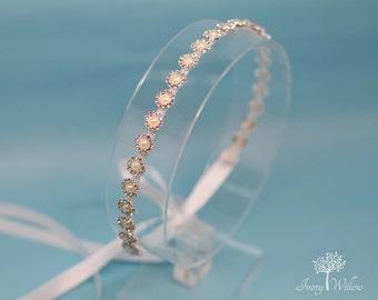 Pearl Flower Girl Headband - Flower Girl Headpiece- Bridal Headpiece - Prom Headband - Bridesmaid Headband - Wedding Accessory - Prom