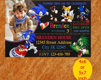 Sonic invitation Etsy