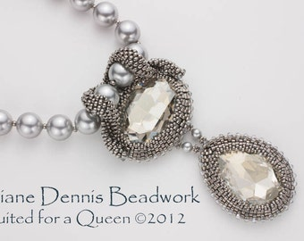 Digital Instructions for Suited for A Queen Necklace