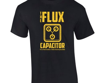 Flux Capacitor Inspired Back To The Future Men's T-Shirt Womens TShirt Doc Brown Marty Gift Mcfly 80's Movie Present 1177